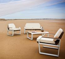 Fauteuil de Jardin Aluminium Blanc et Teck Miami 229€ | Salon d\'été