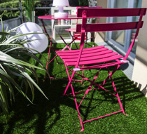 Salon De Jardin Pliant Pop Rose Mat 2 Places 89 Salon D 39 T