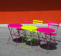 Salon de Jardin Pliant Pop Vert Anis Brillant 2 places 89€ | Salon d\'