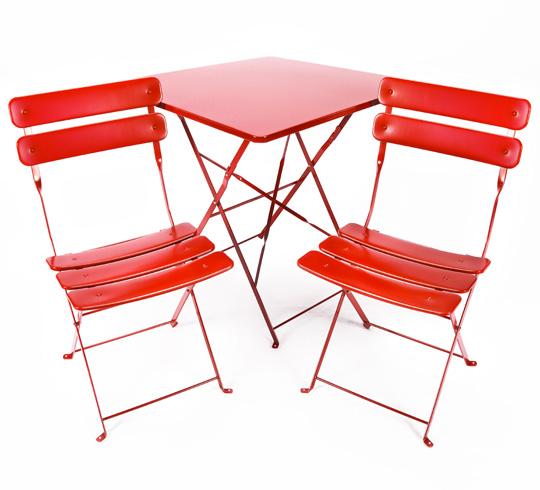 Salon de Jardin Pliant Rouge Mat 2 places 109€ | Salon d\'été