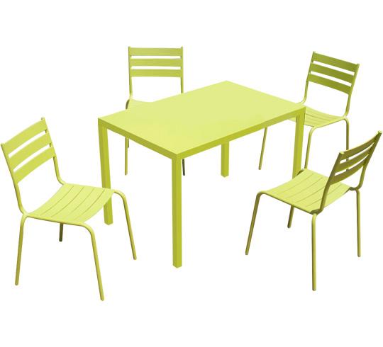Coussin salon de jardin vert anis for Petite table de jardin vert anis