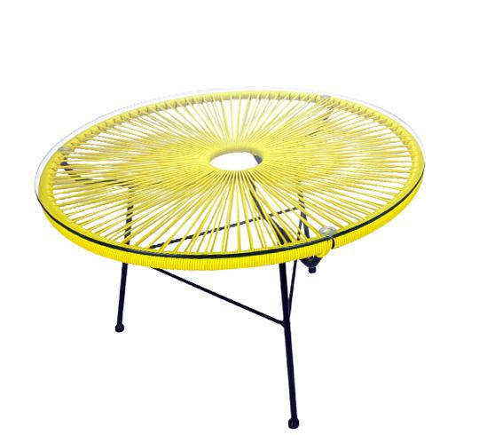 Table basse Acapulco Fil Jaune D80cm 129€   Salon d\'été