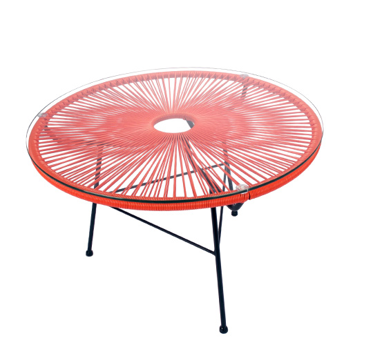 Table basse acapulco fil orange d80cm 129 salon d 39 t - Salon de jardin acapulco ...