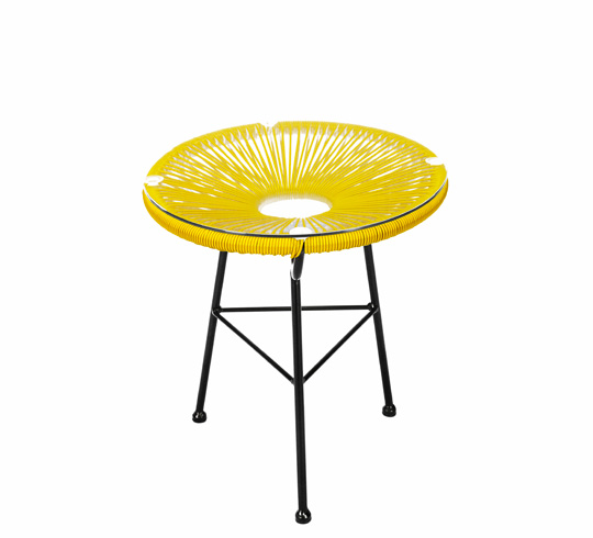 Table D Appoint Acapulco D45cm Fil Jaune 59 Salon D Ete