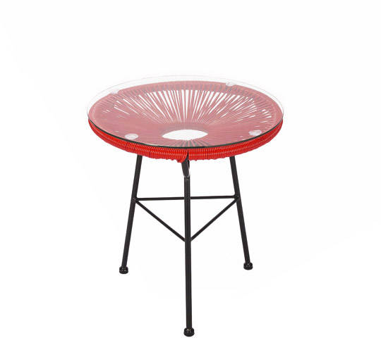 Table D'appoint Acapulco Fil Rouge D45cm