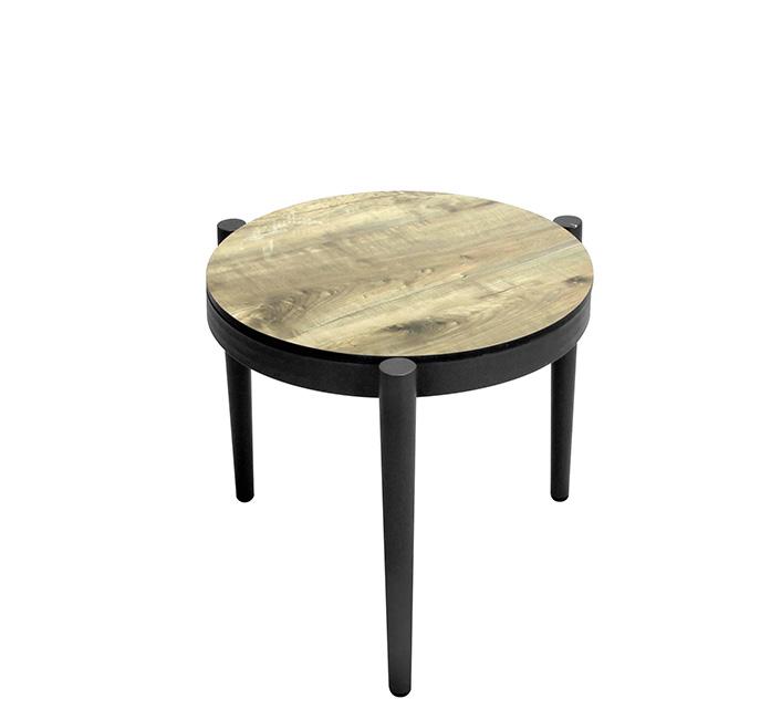 Table Basse De Jardin Aluminium Gris Effet Bois D45cm