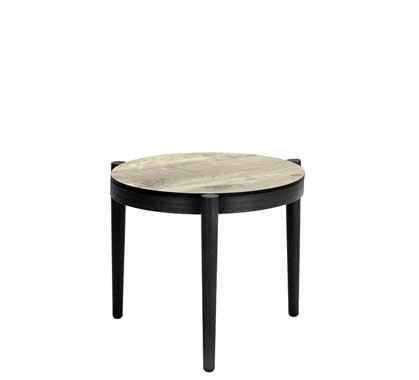 Table Basse de Jardin Aluminium Gris Effet Bois D45cm 109 ...