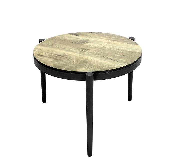 Table Basse De Jardin Aluminium Gris Effet Bois D60cm 129 Salon