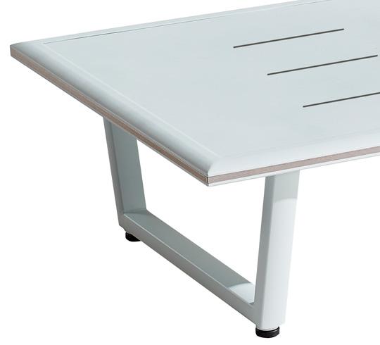 Table basse de Jardin 120x80cm Aluminium Havana Blanc 219€ | Salon d\'été