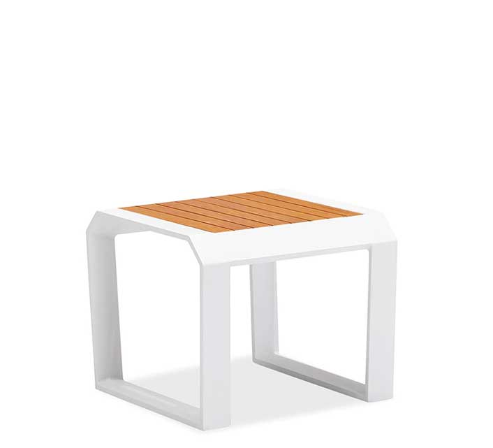 Table basse de jardin blanche teck alu miami 139 salon - Table basse pour salon de jardin ...