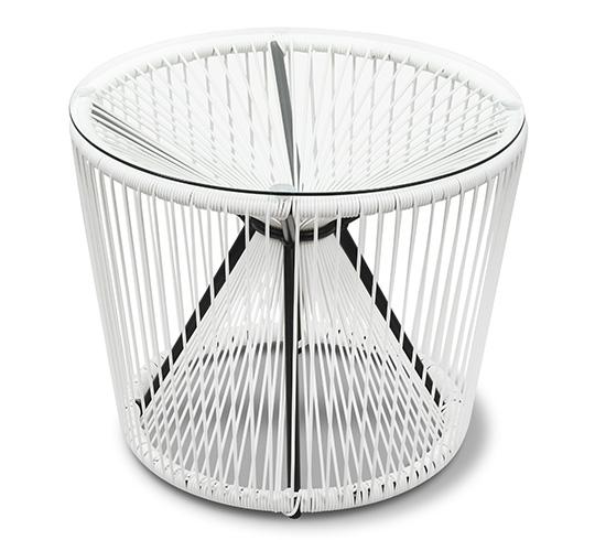 Table Basse De Jardin D55cm Fil Blanc Rio