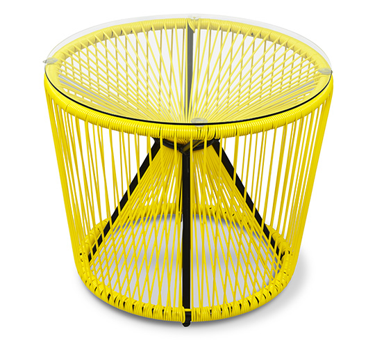 Table basse de jardin fil jaune 55cm rio 85 salon d 39 t - Table basse jardin d ulysse ...