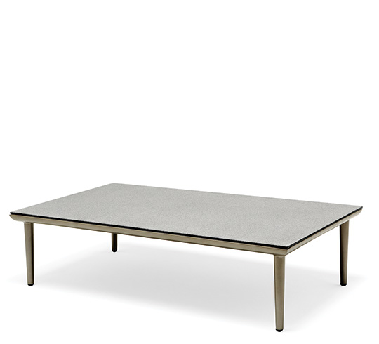 Table basse de jardin taupe grand milano 229 salon d 39 t - Grande table basse de salon ...
