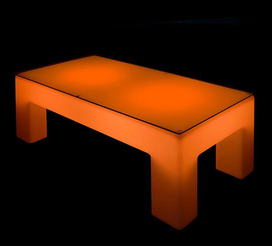 table basse lumineuse led l120 cm rectangulaire ext rieure sans fil avec plateau 229 salon d 39 t. Black Bedroom Furniture Sets. Home Design Ideas