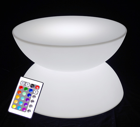 table basse lumineuse led d80 cm ronde ext rieure sans fil. Black Bedroom Furniture Sets. Home Design Ideas