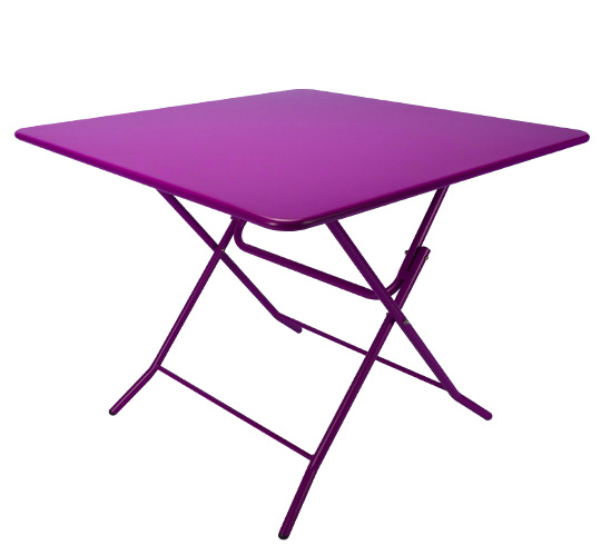 Table de jardin pliante 90x90cm violet mat 89 salon d 39 t - Table de salon pliante ...