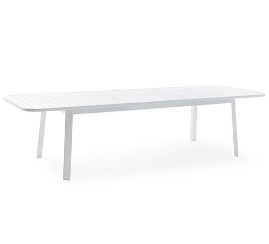 table de jardin alu blanc 10 personnes extensible l 225 310 cm klar. Black Bedroom Furniture Sets. Home Design Ideas