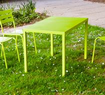 Table de jardin 110cm paris lux vert anis 109 salon d 39 t for Petite table de jardin vert anis