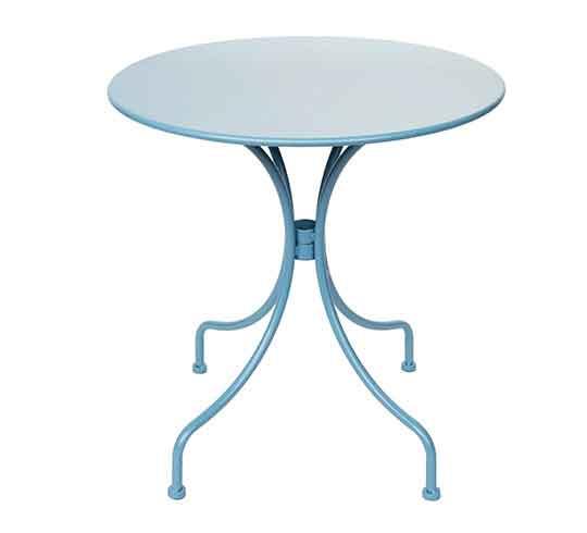 Table De Jardin Ronde 95cm Blanc Mat 99 Salon Dété