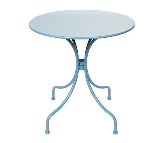 Table de Jardin Ronde D70cm Bleu Pastel Mat