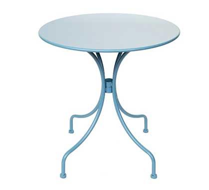 Table de Jardin Ronde D70cm Bleu Pastel Mat 59€ | Salon d\'été