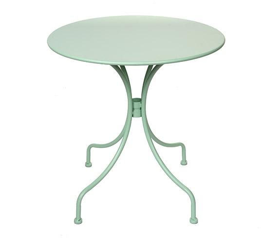 Table de jardin ronde 70cm vert d 39 eau mat 59 salon d 39 t - Table jardin romantique fort de france ...
