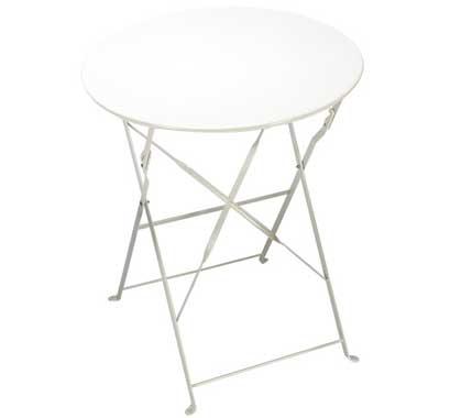 Table de Jardin Pliante Ronde D60cm Blanc Brillant 37€ | Salon d\'été
