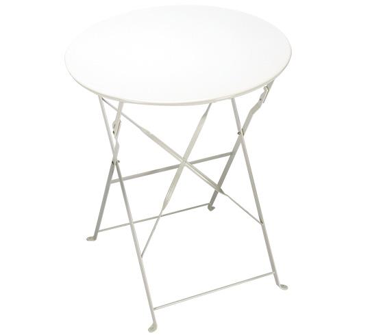 Table de jardin ronde pliante 60cm blanc brillant 37 for Dimension table ronde pour 4 personnes