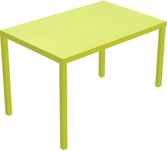 Table de Jardin 110cm Paris Lux Vert Anis 109€ | Salon d\'été