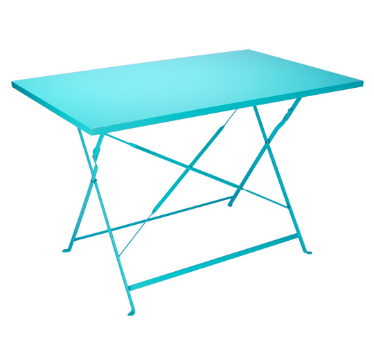 table de jardin pliante 110x70cm bleu turquoise mat 109 salon d 39 t. Black Bedroom Furniture Sets. Home Design Ideas