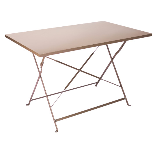 Table de jardin pliante 110x70cm taupe mat 95 salon d 39 t - Table de bistrot pliante ...