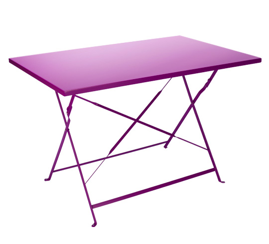 Table basse jardin metal pliante - Table bistrot rectangulaire aluminium ...