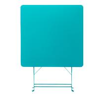 Table De Jardin Pliante 70x70cm Bleu Turquoise Mat 64