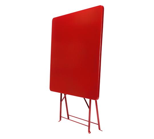 Mat Jardin 70x70cm Table Pliante Rouge De qUMpSzGVjL