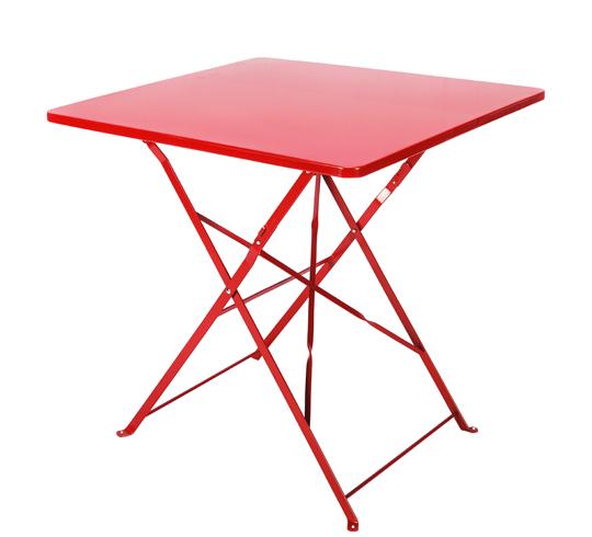 Table de Jardin Pliante 70x70cm Rouge Mat 39€ | Salon d\'été
