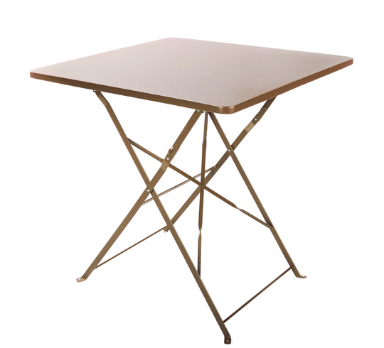 Table de jardin pliante 70x70cm taupe mat 64 salon d 39 t for Table de bistrot pliante