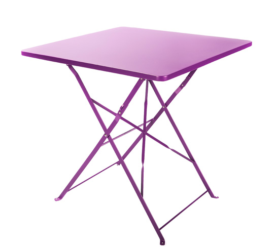 table de jardin pliante 70x70cm violet mat 64 salon d 39 t. Black Bedroom Furniture Sets. Home Design Ideas