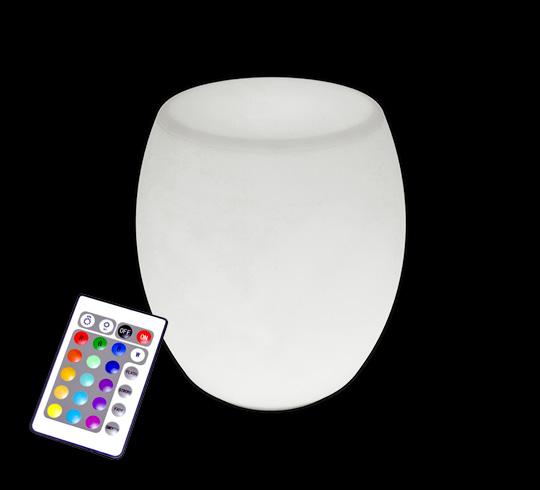tabouret lumineux led h47cm ext rieur sans fil 95 salon d 39 t. Black Bedroom Furniture Sets. Home Design Ideas