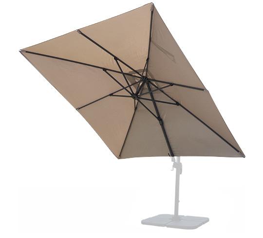 toile de parasol d port haut de gamme 4x3 m taupe 250g m2. Black Bedroom Furniture Sets. Home Design Ideas