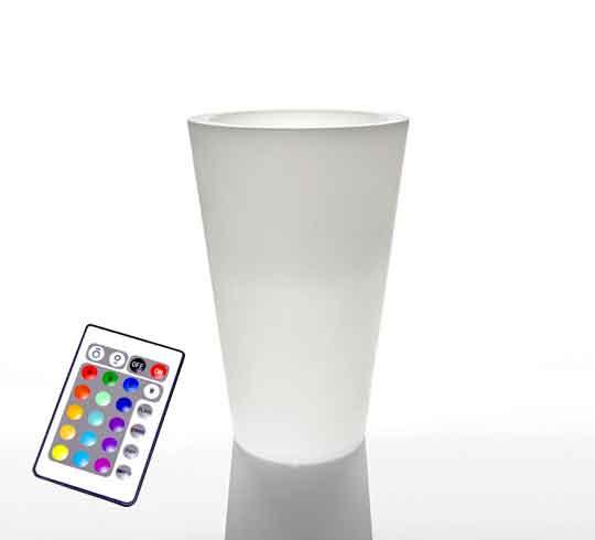 vase lumineux led h 50cm sans fil 89 salon d 39 t. Black Bedroom Furniture Sets. Home Design Ideas