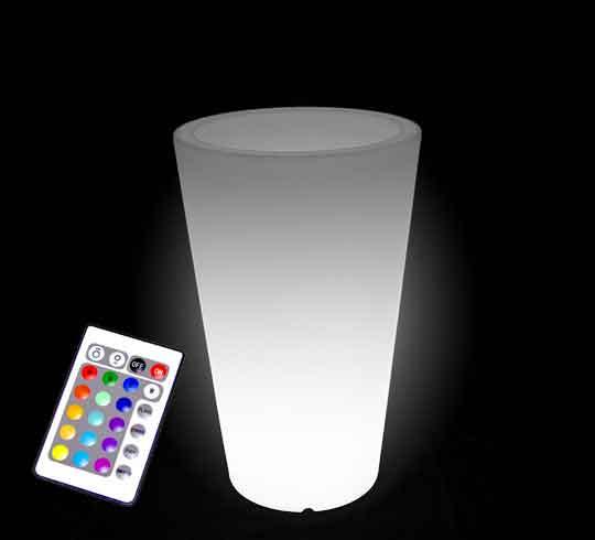vase lumineux led h 70cm sans fil 119 salon d 39 t. Black Bedroom Furniture Sets. Home Design Ideas
