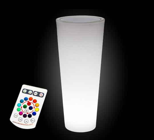 vase lumineux led h 90cm sans fil 149 salon d 39 t. Black Bedroom Furniture Sets. Home Design Ideas