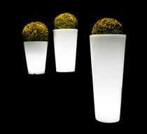 Vase lumineux led h90cm sans fil 119 salon d 39 t for Vase lumineux exterieur