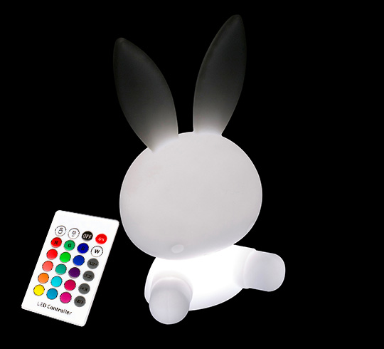 Veilleuse Lapin Lumineux LED 40 cm Rechargeable