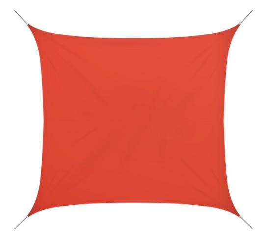 voile d 39 ombrage 5x5 m rouge brique 180g m2 65 salon d 39 t. Black Bedroom Furniture Sets. Home Design Ideas