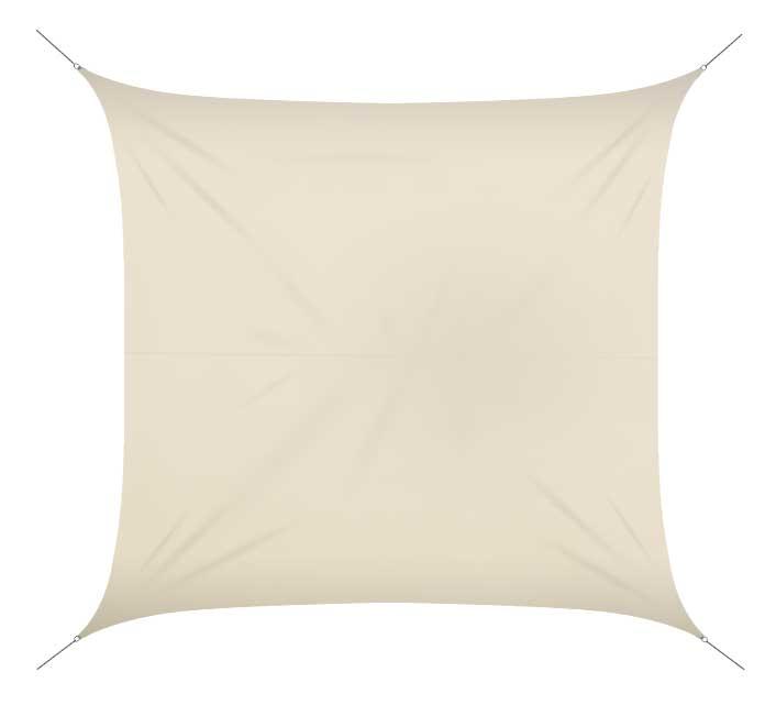 voile d 39 ombrage 4x4 m beige 180g m2 54 salon d 39 t. Black Bedroom Furniture Sets. Home Design Ideas