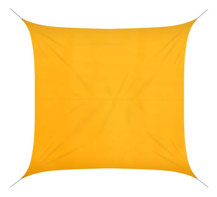 voile d 39 ombrage 5x5 m jaune 160g m2 59 salon d 39 t. Black Bedroom Furniture Sets. Home Design Ideas