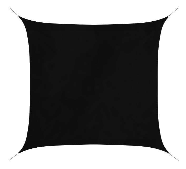 voile d 39 ombrage 5x5 m noir 180g m2 65 salon d 39 t. Black Bedroom Furniture Sets. Home Design Ideas