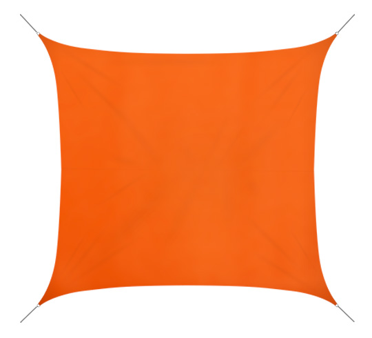 Voile D'ombrage 4x4 m Orange 160g/m2
