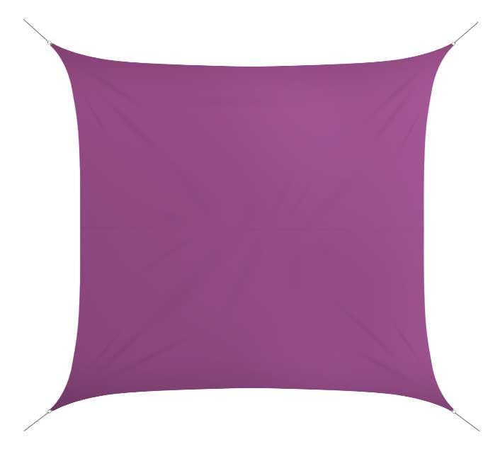 voile d 39 ombrage 4x4 m violet 180g m2 54 salon d 39 t. Black Bedroom Furniture Sets. Home Design Ideas